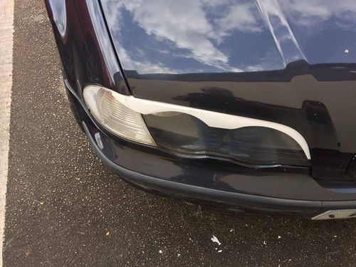E46 4 Door Eyebrow Spoilers (preface lift)