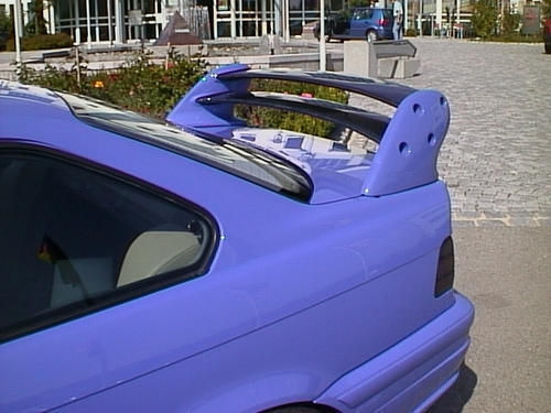 "E36 Saloon ""K"" Style Twin Element Rear Wing"